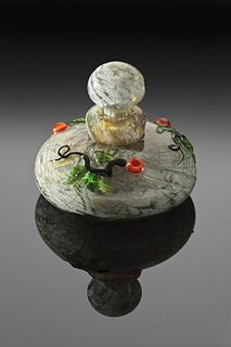Perfume Bottle w/ Jewel Berry Vine by John Nygrem