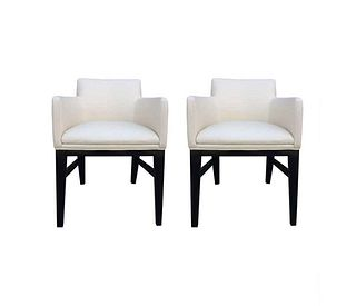 Set of 2 Arm Chairs in the style of Edward Wormley