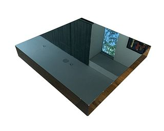 Low Coffee Table in Black Lacquer by Cassina