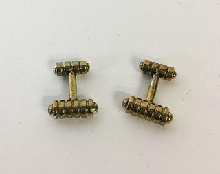 Tiffany & Co. 18k Gold Groove Cufflinks