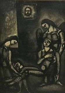 Georges Rouault Etching Plate 46 From Miserere