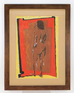 Lois Mailou Jones Female Nude Silkscreen Print