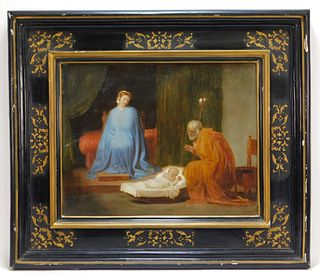 18C Italian Old Master's Nativity Scene Painting
