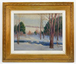 George Gardner Symons Winter Landscape Painting