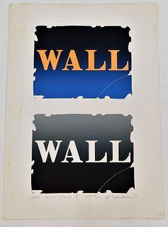 Robert Indiana Wall Right Stones IV Lithograph