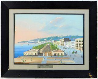 Mauton Strada Impressionist Villa Reale Painting