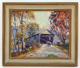Charles Gordon Harris Vermont Landscape Painting