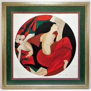 Linda Le Kinff Expressionist Nude Lithograph