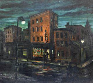 Gordon Steele Modern Nocturnal Street Painting