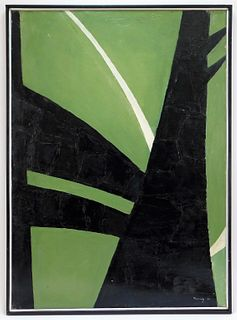 Robinson Murray Abstract Tall Tree Painting