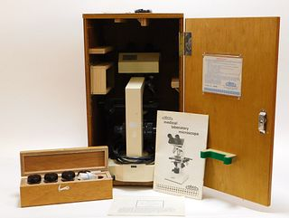 ABCO Medical Laboratory Microscope with Case