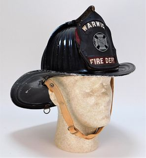 Antique Cairnes & Brothers Warwick Fire Helmet