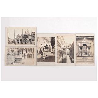 "CARLO FONTI, Venezia, Unsigned, Cartes de visite, 4.1 x 2.4"" (10.5 x 6.3 cm)"