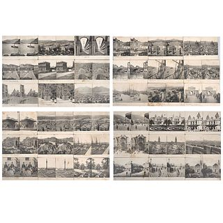 UNIDENTIFIED PHOTOGRAPHER, Vistas del mundo: Espana, Francia e Italia, Unsigned, Stereoscopic views on cardboard, Pieces: 56