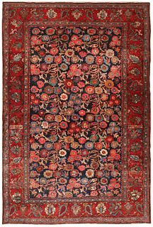 ANTIQUE PERSIAN BIDJAR RUG, 4 FT 6 IN X 6 FT 9 IN