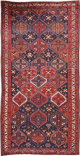 ANTIQUE PERSIAN BAKHTIARI CARPET , 6 FT 4 IN X 12 FT 6 IN