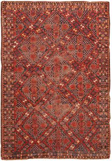ANTIQUE ERSARI RUG , CENTRAL ASIA , 5 FT 8 IN X 8 FT 2 IN