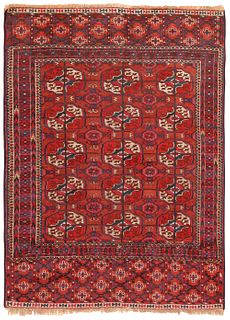 Antique Tekke rug , Turkmenistan , 2 ft 11 in x 3 ft 11 in