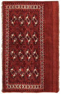 Antique Turkeman Yomud rug, Turkmenistan , 2 ft 6 in x 3 ft 9 in