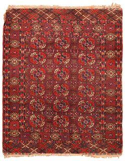Vintage Tekke rug , Turkmenistan , 3 ft 3 in x 4 ft