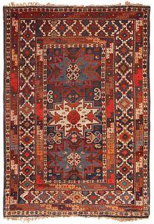 Antique Caucasian Lesghi Star rug , 3 ft 4 in x 5 ft