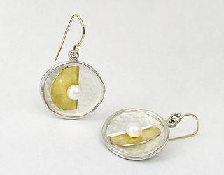 Moonlight White Pearl Earrings