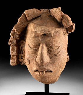 Exhibited Maya Pottery Portrait Head of Ancestor TL'd