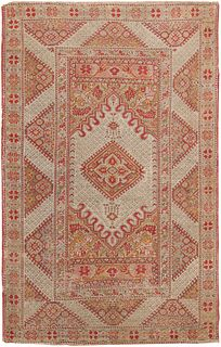 Antique Anatolian Ghiordes rug , 4 ft 3 in x 6 ft 6 in