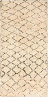 Vintage Moroccan Beni Qurain Carpet ,6 ft 2 in x 12 ft 3 in