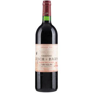 Château Lynch Bages. Cosecha 1996. Grand cru classé. Pauillac. Nivel: llenado alto.