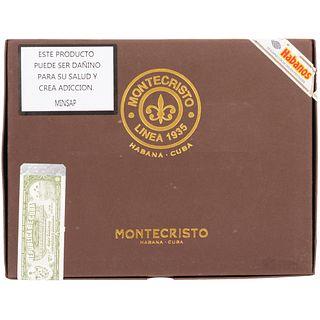 Montecristo. Linea 1935 Maltes. Habana, Cuba. Longitud: 153 mm. Diámetro: 21.03 mm. Calibre anular: 53. Piezas: 20.