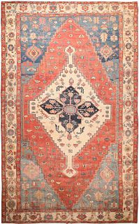 OVERSIZED ANTIQUE PERSIAN SERAPI CARPET, 14 ft  x 22 ft 3 in
