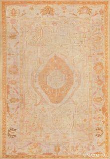 ANTIQUE TURKISH OUSHAK CARPET, 8 ft 5 in x 12 ft 5 in