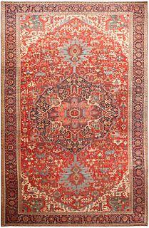 LARGE ANTIQUE PERSIAN HERIZ CARPET ,12 ft  x 18 ft 10 in