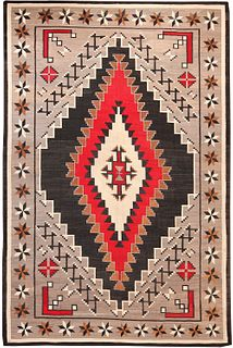 LARGE ANTIQUE AMERICAN NAVAJO CARPET , 8 ft 4 in x 12 ft 8 in