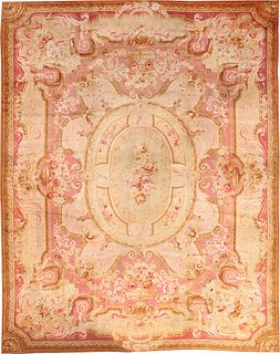 ANTIQUE FRENCH SAVONNERIE CARPET , 14 ft x 18 ft 5 in
