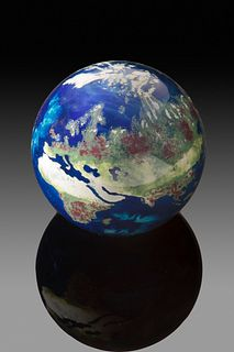 Earth Paperweight by Lundberg Studios