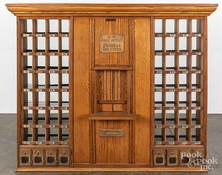 U.S. Post Office oak cabinet