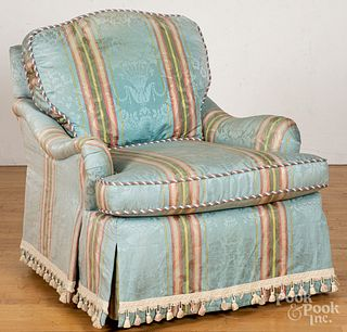 Highland House silk upholstered chair.