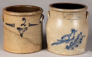 Two stoneware crocks, 19th c.