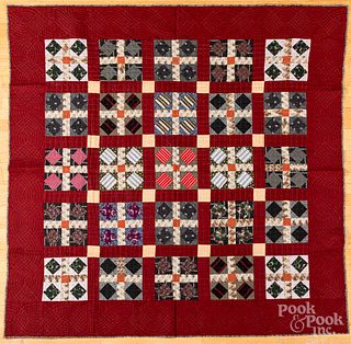 Diamond in grid quilt, late 19th c.