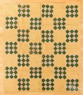 Two nine patch quilts, late 19th c.