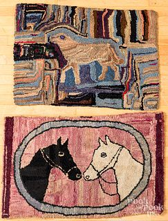 Two hooked rugs, early 20th c.