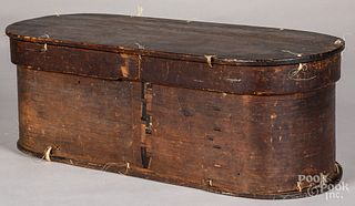 Bentwood box, 19th c.