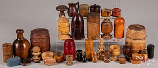 Small wooden containers, trinkets, etc.
