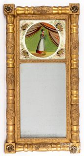 Sheraton giltwood mirror, 19th c.
