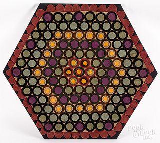 Felt penny rug, late 19th c.
