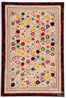 Pola dot hooked rug