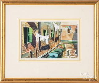 Three Bruce Johnson watercolor works