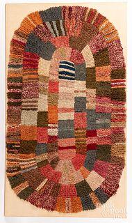 Large Shaker hooked rug